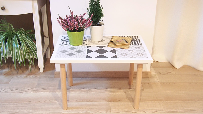 table diy carreaux de ciment