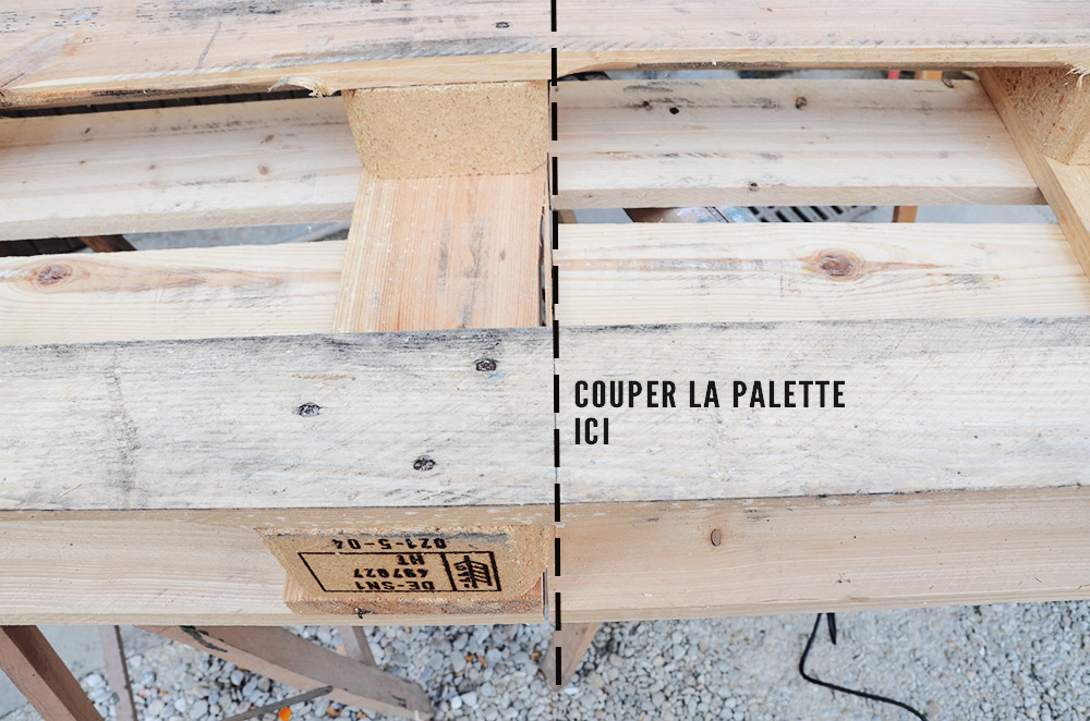 diy recyclage de palette en bois en table basse chocodisco. Black Bedroom Furniture Sets. Home Design Ideas