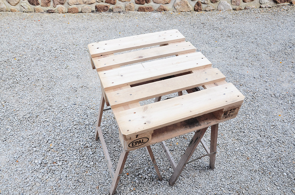 table basse palette en bois